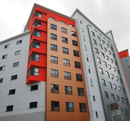 Visoline windows were installed in modular units used for student accommodation