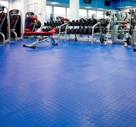 Saarfloor rubber tiles offered the highest levels of durability for the busy gym area