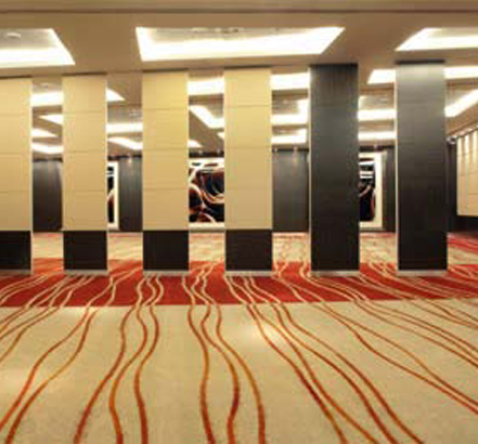 Movable walls from Accordial Wall Systems can subdivide the rooms at Park Plaza