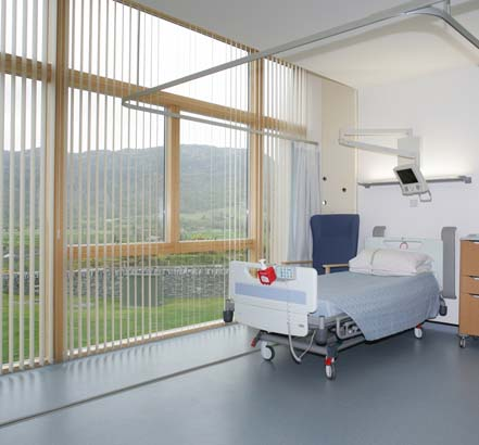 nora® rubber floor coverings, used for a ward at Altwen Hospital
