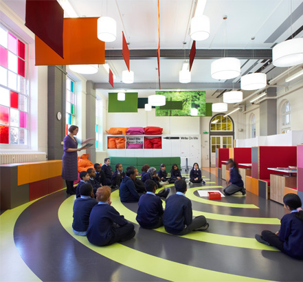 Westhill Primary School makes use of colourful and sustainable nora<sup>®</sup> rubber floor coverings