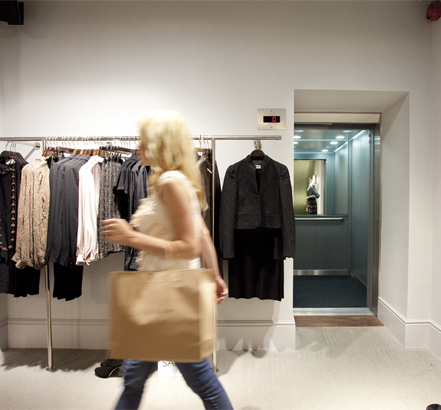 Liverpool One's new Jigsaw store makes use of a Stannah passenger lift