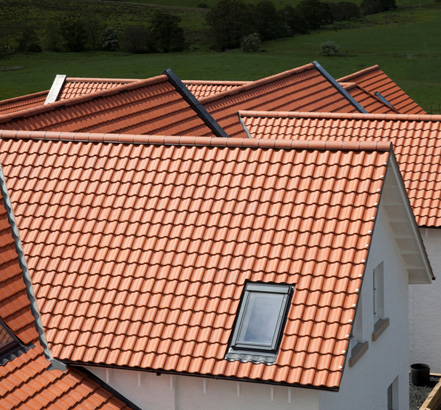 Neo Pantile interlocking clay roof tiles