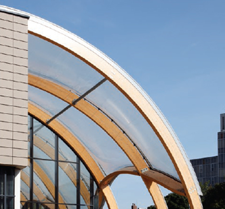 The roof of the Hull History Centre is an eye-catching design