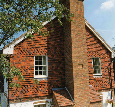 Roof tiles, clay (Tudor Roof Tile)