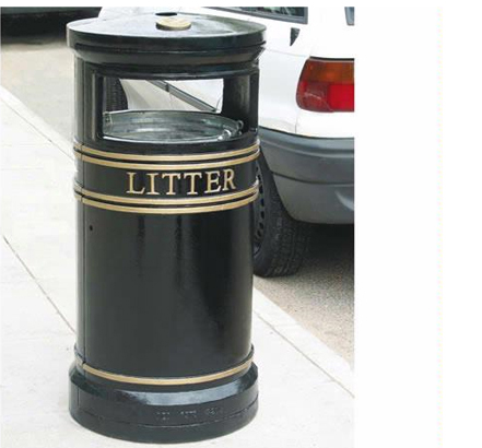 Covent Garden Circular Litter Bin