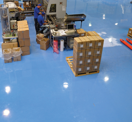 Flowcrete's seamless resin floor finish