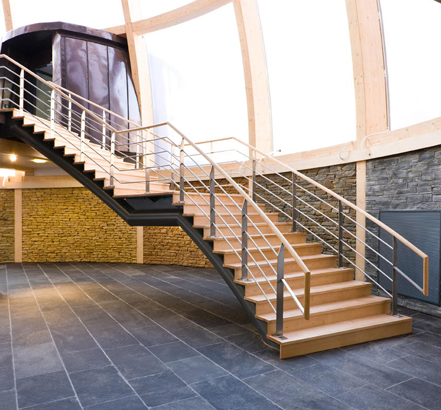 M & G Olympic Products Ltd supplied and installed a helical staircase to The British Geological Survey's William Smith office building