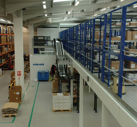 Mezzanine International's dual solution: a mezzanine floor and a chiller roof support