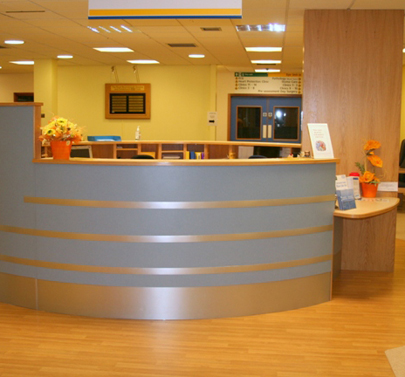 Bournemouth Hospital Outpatients Reception Counter