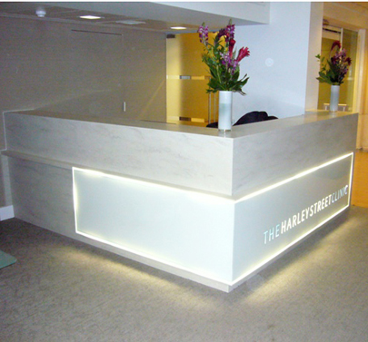 Harley Street Reception Counter