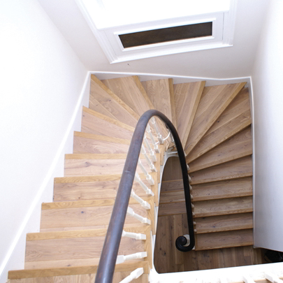 Staircase in Light Oak