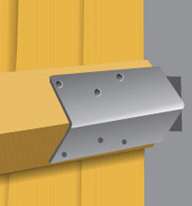 Mortice Arria Rail Bracket for concrete post