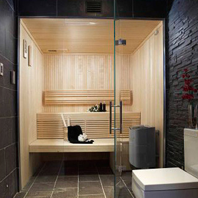 Sauna and steam room at Hampshire residence