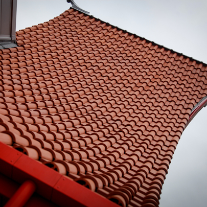 Heritage Service roof tiles for Wing Yip extension
