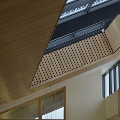 Linear Wood Ceiling System