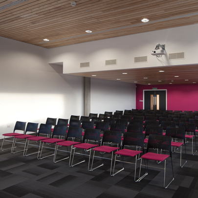 hunter douglas provides solid wood ceiling system for dunelm mill hq