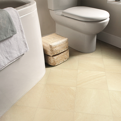 Sandstone bathroom flooring