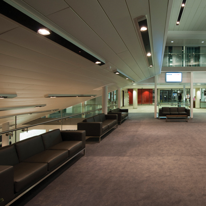 Hunter Douglas Luxalon 300A closed ceiling system at Edinburgh University