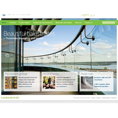 New Website for Sapphire Balustrades