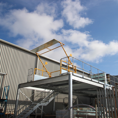Mezzanine Swing Arm Pallet Gate