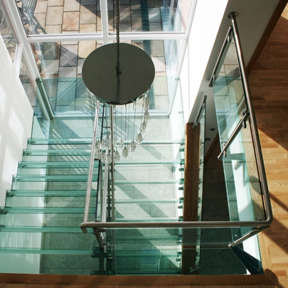 glass staircase balustrade