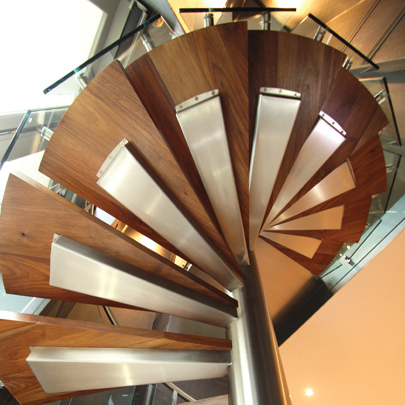 london interior spiral staircase