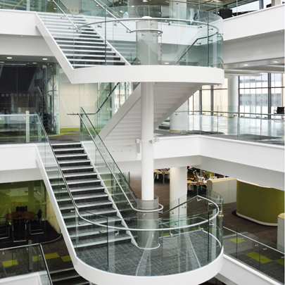 multistorey interior staircase