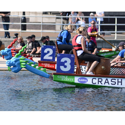 The Construction Industry Dragon Boat Challenge. An industry fundraising event that raises vital funds for CRASH