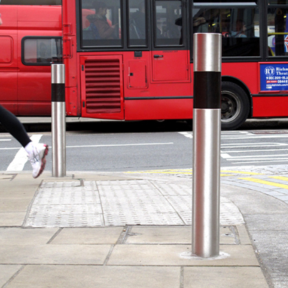 FURNITUBES Transport stainless steel bollard Wimbledon London