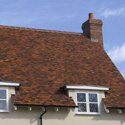 Plain tiles can create subtle variation of colour and texture