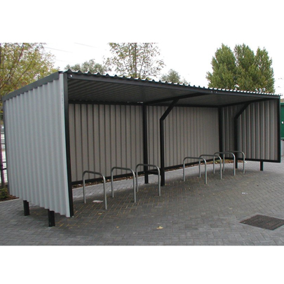Beckton Shelter and Surface Mounted Sheffield Cycle Stands, Beckton Waterfront, London