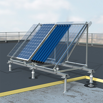 Helial D aluminium support system for solar panels