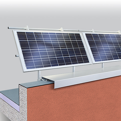Barrial photovoltaic railing
