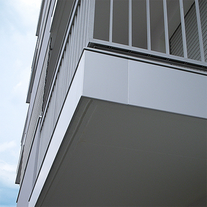 Dallnet Series H aluminium protection and cladding system for slab edges