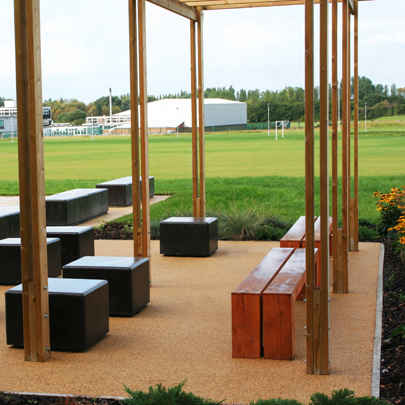 Bailey external street furniture package Wade Deacon High School