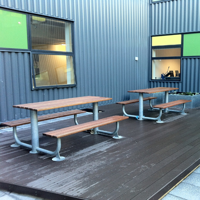 Outdoor furniture for Shafton Advanced Learning Centre, Barnsley