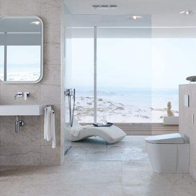 geberit aquaclean sela shower toilet now floorstanding. Black Bedroom Furniture Sets. Home Design Ideas