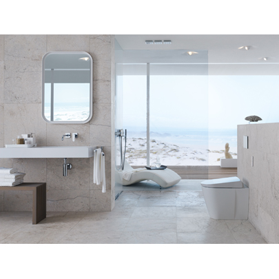 geberit aquaclean sela shower toilet now floorstanding. Black Bedroom Furniture Sets. Home Design Ideas