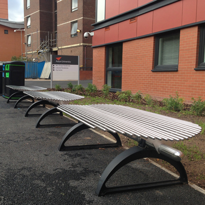 Metalco outdoor seating for Aston University