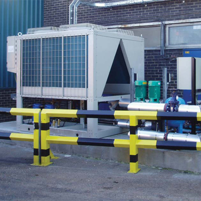 Air cooled chiller plant for United Biscuits