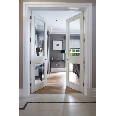 Ahmarra bespoke panel doors luxury housing development , Wimbledon
