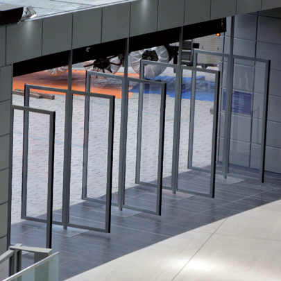 Pivoted entrance doors, O2 Arena