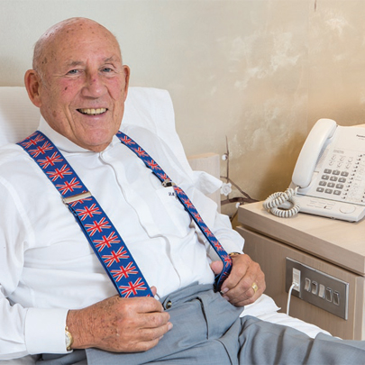 Decorative electrical wiring accessories for Sir Stirling Moss OBE