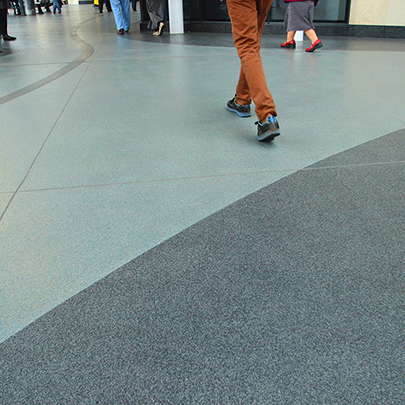 Bus Terminal Resin Flooring