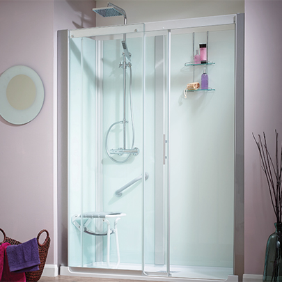 Aqua-Magic+: Self-contained showering cubicle