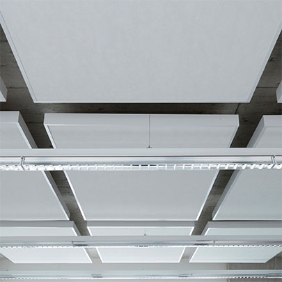 TechStyle® Islands sound-absorbing ceiling solution