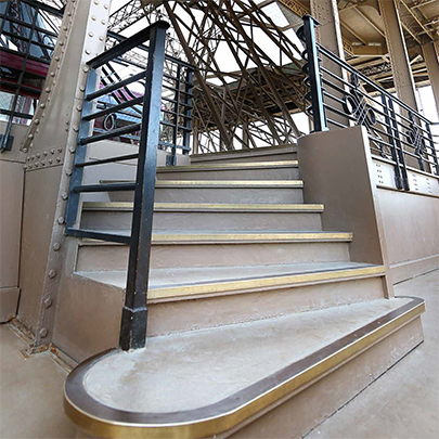 Bronze Stair Edgings for Eiffel Tower