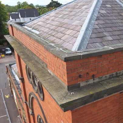 Aerial drone survey of Victorian pumphouse, Tettenhall