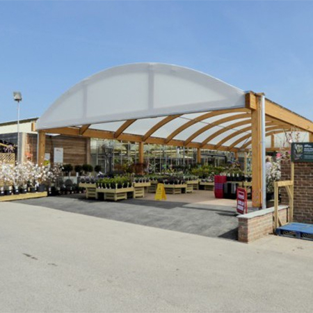 Timber Canopy For Hillier Garden Centre
